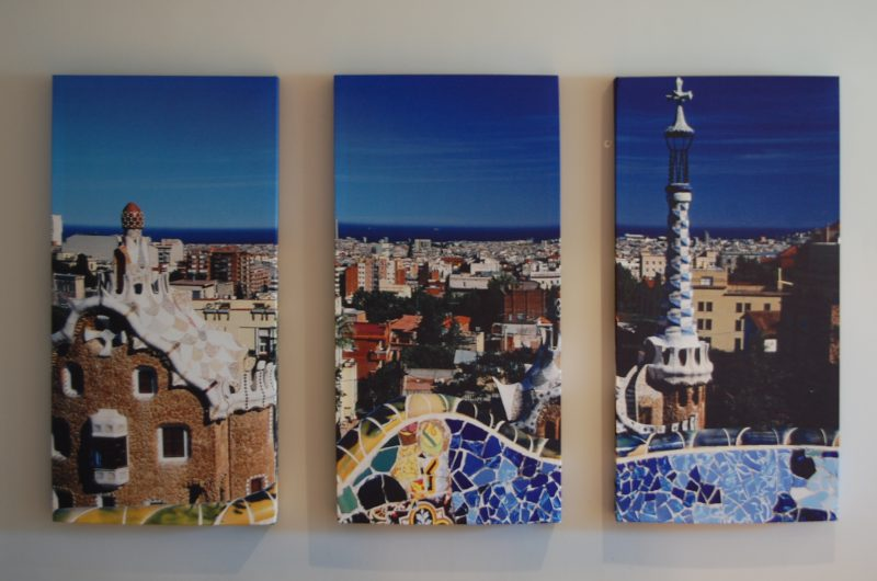 GIK Acoustics Art Panels 3 panel span blue city images