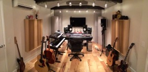 Gianmarco recording studio GIK Acoustics Q7d Diffusors Soffit Bass Trap Screen Panel