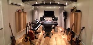 Gianmarco recording studio GIK Acoustics Q7d Diffusors Soffit Bass Trap Screen Panel