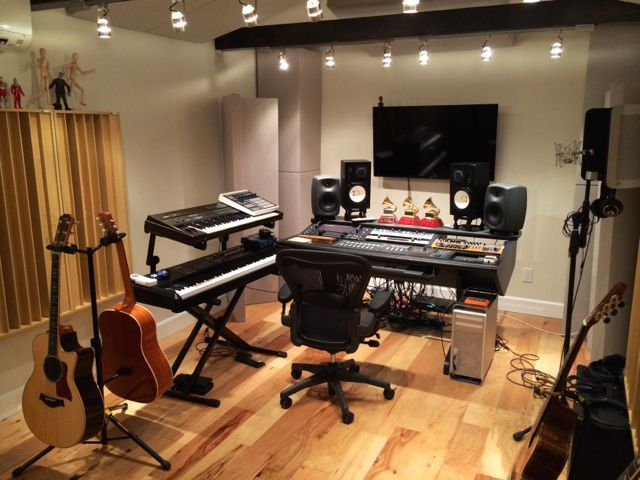 Gianmarco recording studio GIK Acoustics Q7d Diffusors Soffit Bass Trap Acoustic Panel