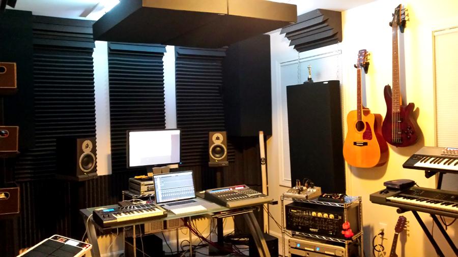 GIK 242 Acoustic Panels Beach House control room