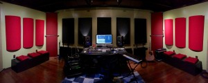 GIK Acoustics Bonzi Recording studio with PolyFusors sound diffusers in the studio