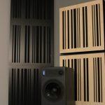 GIK Corner CT Alpha Bass Trap black plate black fabric in room