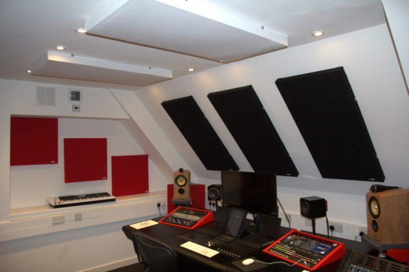 Abbey Road Ins S6 Studio GIK Acoustics treatment side walls ceiling front wall