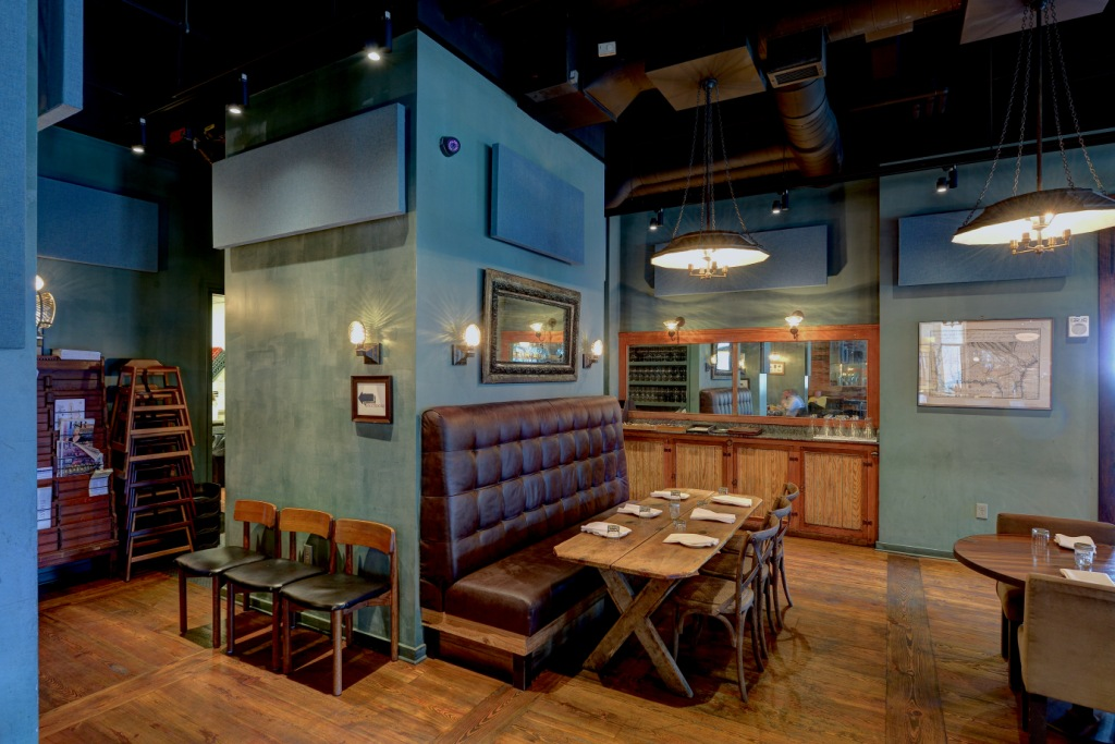 GIK Acoustics custom acoustic panels for Empire State South, Restaurant Acoustics, panels that absorb sound and blend in