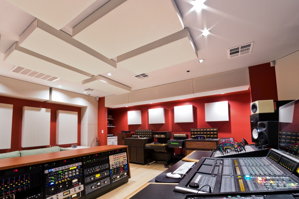Lost Ark Studio Control Room GIK Acoustics Bass Traps and Soffits