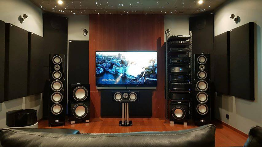 GIK Acoustics Bass Traps in home theater