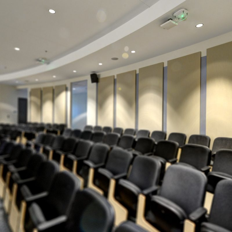 GIK Acoustics Spot Panel in Georgia Tech Classroom Lecture Hall