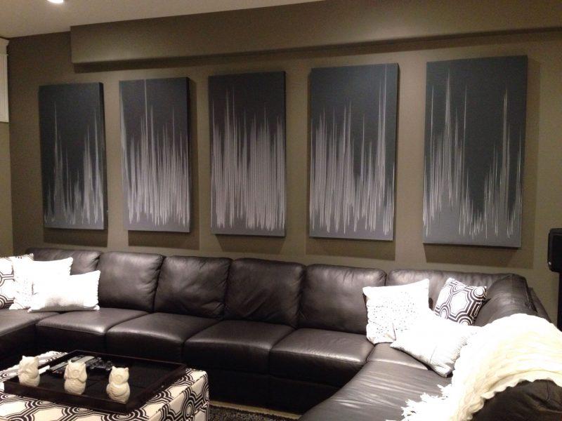 GIK Acoustics Art Panel Acoustic Artwork above couch