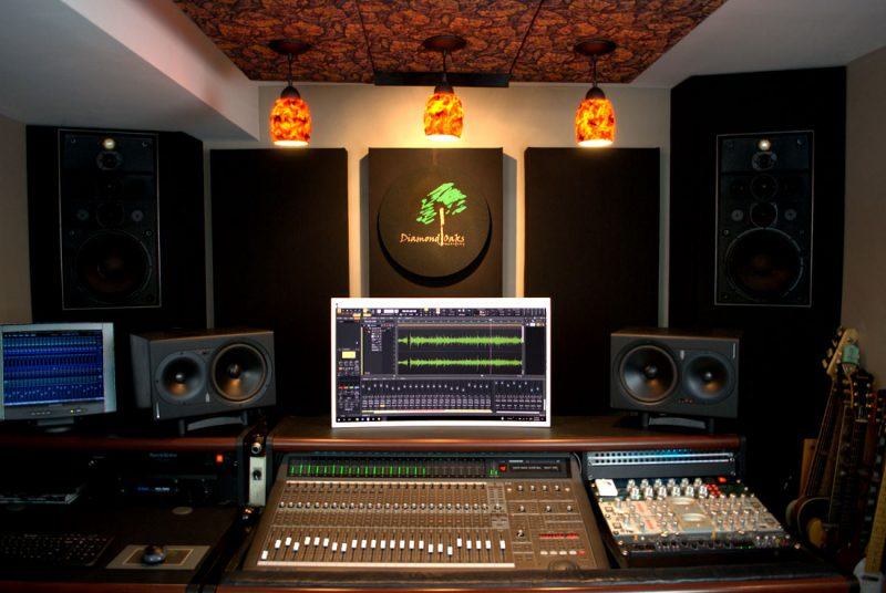 GIK Acoustics Bass Traps in Diamond Oaks Studio