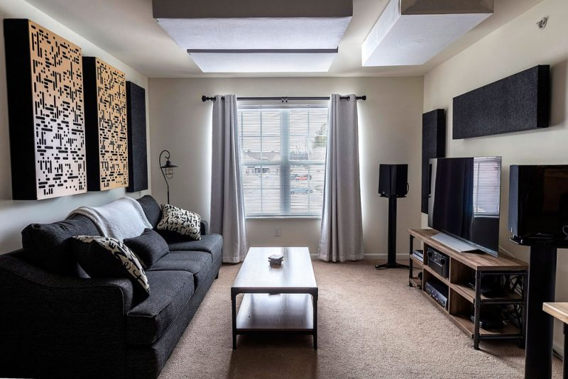Acoustic panels make any room sound and look great with the right placement and sound absorption panel choices