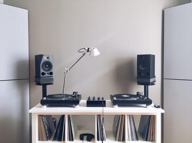 GIK Acoustics TriTraps in listening room