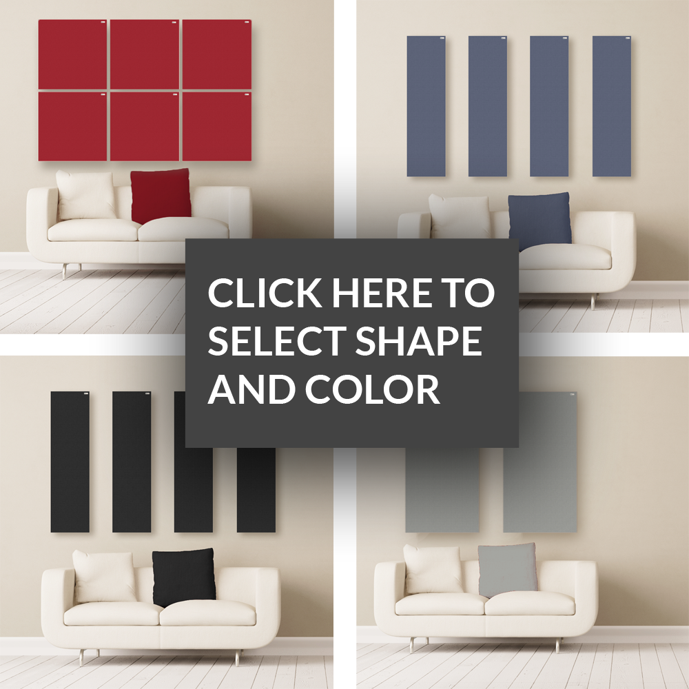 GIK Acoustics Choose your color and shape acoustic panels