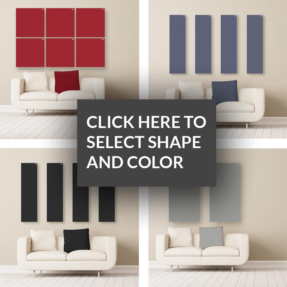 GIK Acoustics Choose your color and shape acoustic panels