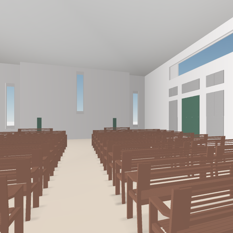 GIK Acoustics Church Acoustics Plan interior 3D modeling