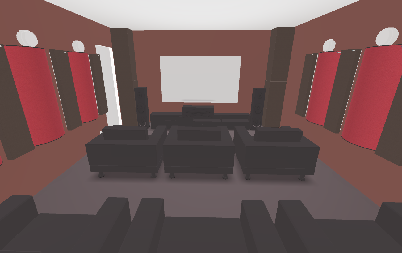 GIK Acoustics Home theater Plan interior acoustic panels