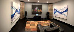 Acoustic Art Panels in listening room