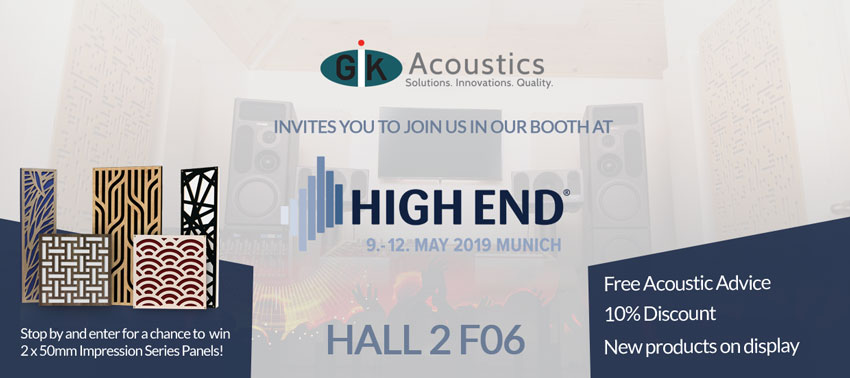 GIK at High End Munich 2019: Exhibitor Booth and Helpful