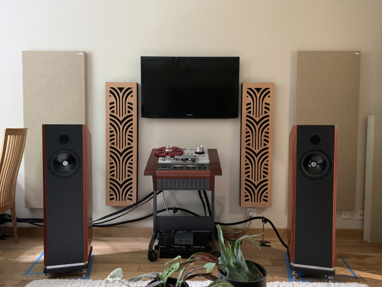 Acoustic panels and Impression Pro Series Panels in The Reel to Reel Rambler Dave Denyer