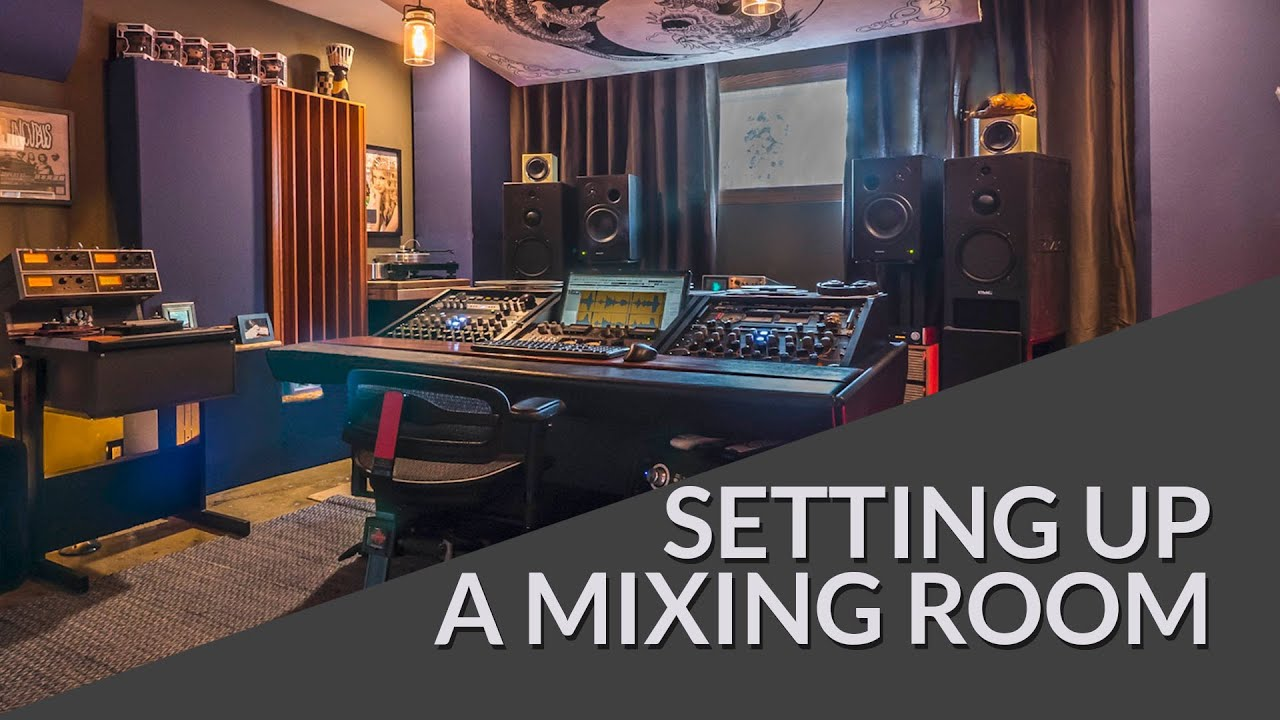 Set up a mixing or mastering room tutorial