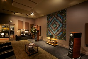 GIK Acoustics Overture studio CRRQ acoustic panels in listening room