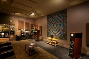 GIK Acoustics Overture studio CRRQ acoustic panels in listening room